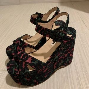Shoes - Miu miu wedge sandal